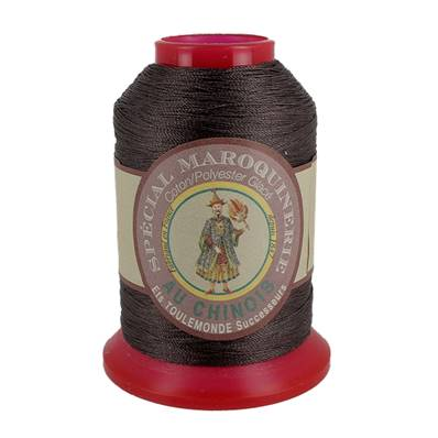 Fil Spécial Maroquinerie polyester coton - 28/3 - 0,45 mm - CHOCOLAT