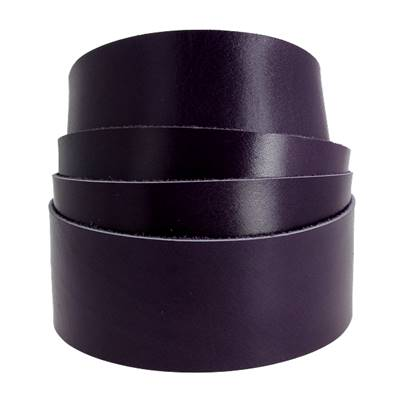 Sangle VIOLET - Veau lisse type BOX - Largeur 38 mm