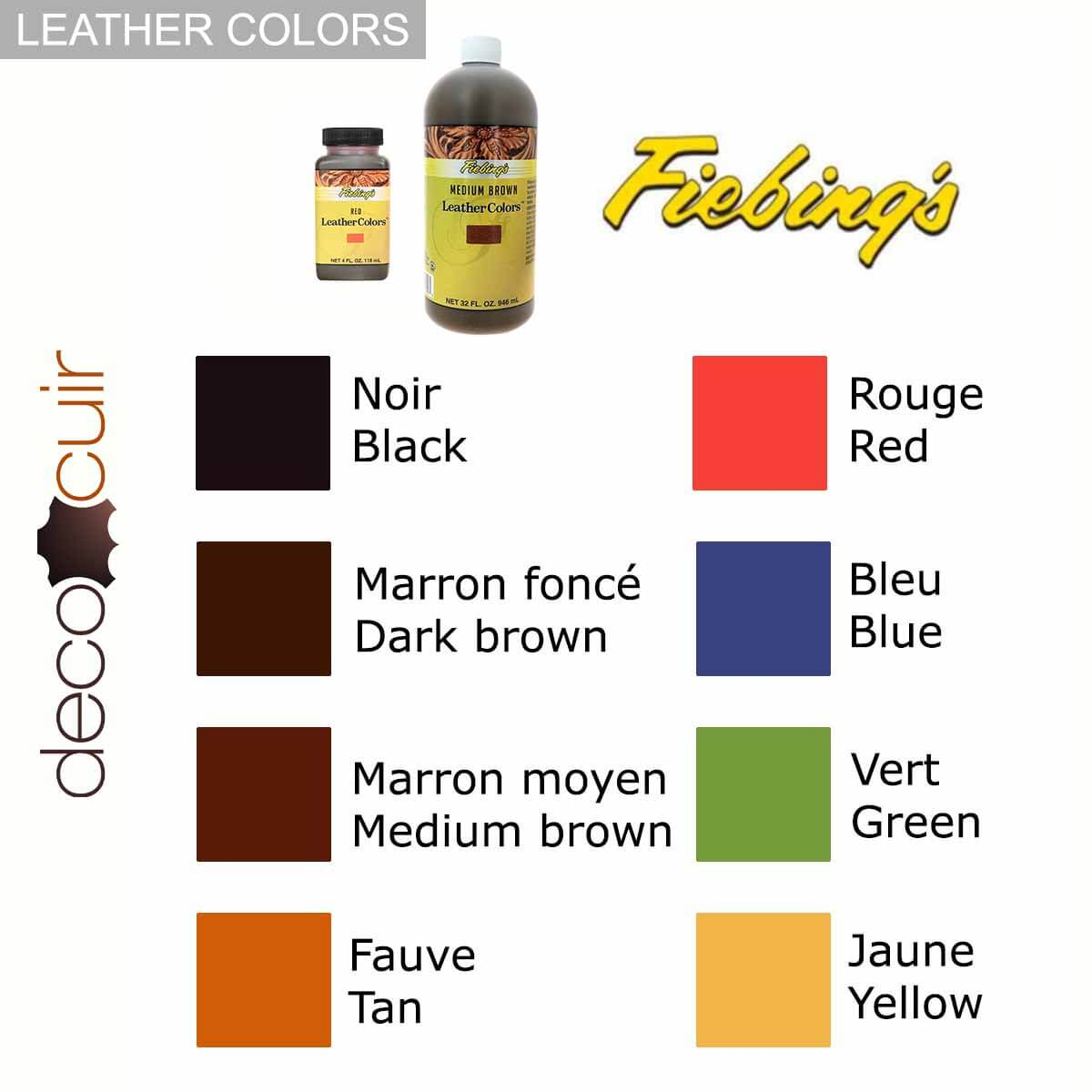 Teinture pour cuir FIEBING'S LEATHER COLORS - Institutional - MARRON CHOCOLAT - DARK BROWN