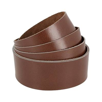 Sangle MARRON - Veau lisse type BOX - Largeur 38 mm