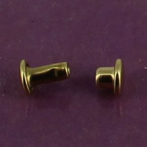 Lot de 20 petits rivets DOUBLE CALOTTE en laiton (T2) finition Laiton