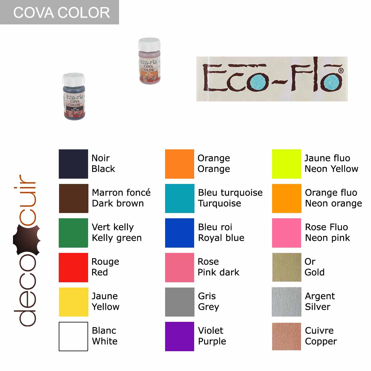 Peinture opaque à base d'eau - PHOSPHORESCENT - Cova Color Eco Flo n°50