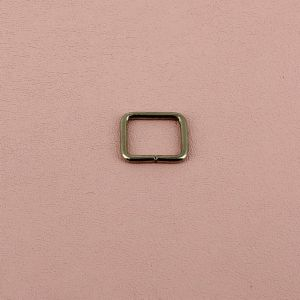 Passant rectangulaire - NICKELE - 12 x 8 mm - Fil 2 mm