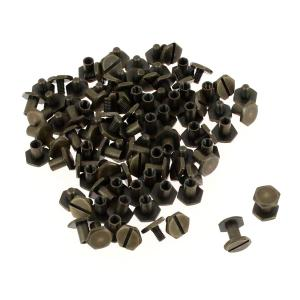 Lot de 50 vis CHICAGO hexagonales - LAITON VIEILLI - 8 mm de diamètre