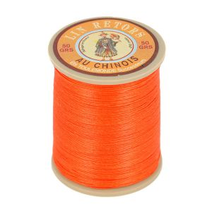 Bobine fil de lin au chinois retors extra glacé n°24 - ORANGE TANGO 380