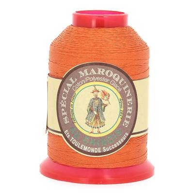 Fil Spécial Maroquinerie polyester coton - 28/3 - 0,45 mm - ORANGER