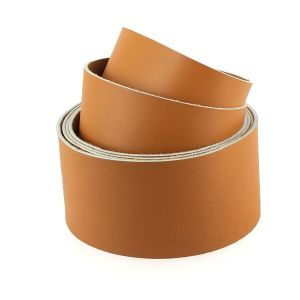Sangle CARAMEL - veau lisse type BOX - largeur = 46 mm