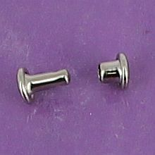 Lot de 20 petits rivets DOUBLE CALOTTE en laiton (T2) finition Nickelé