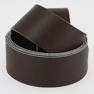 Sangle CHOCOLAT MAT - veau lisse type BOX - largeur = 38mm