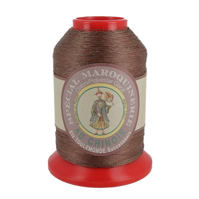 Fil Spécial Maroquinerie polyester coton - 28/3 - 0,45 mm - MARRON