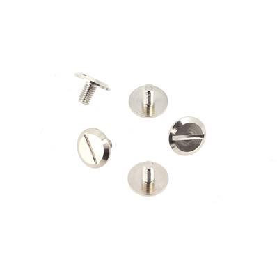 Lot de 5 vis 3x5 mm - Tête plate - NICKELE