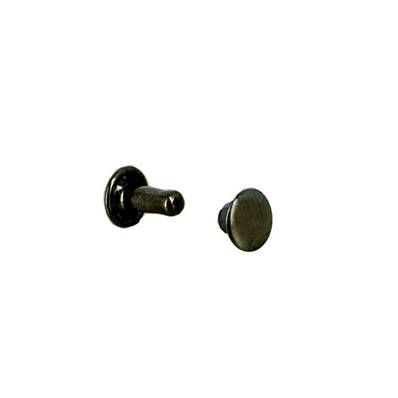 Lot de 20 rivets moyen DOUBLE CALOTTE en laiton (T3) finition Canon de fusil