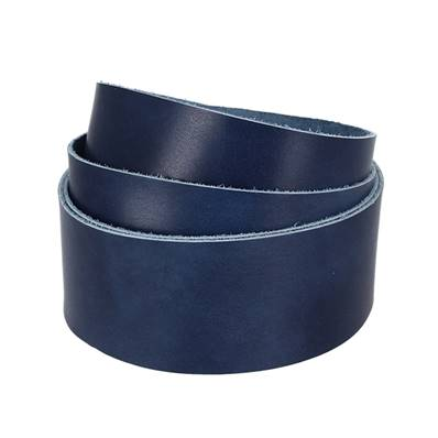 Sangle BLEU MARBRÉ - Veau lisse type BOX - Largeur 38 mm