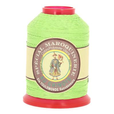 Fil Spécial Maroquinerie polyester coton - 28/3 - 0,45 mm - VERT CLAIR
