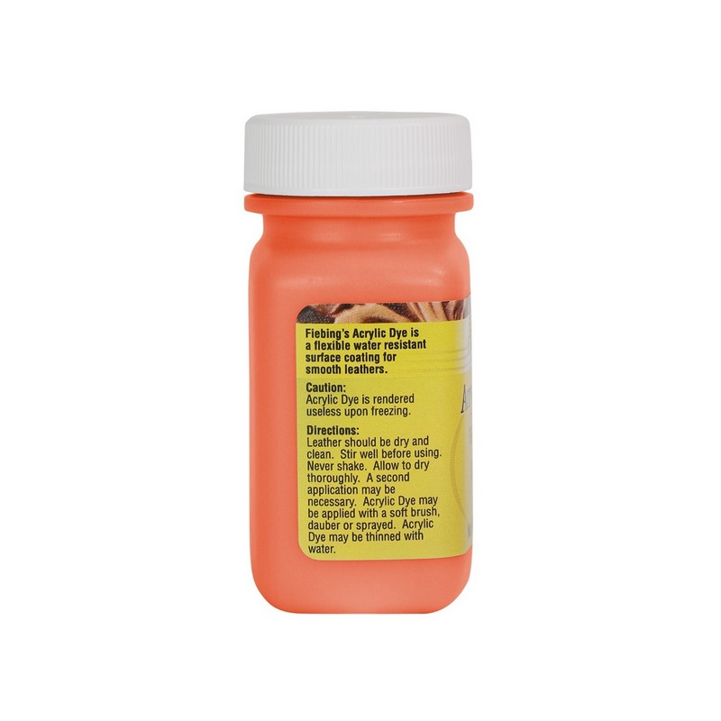 Peinture opaque - Fiebing's Acrylic Dye - ORANGE / ORANGE - 59ml
