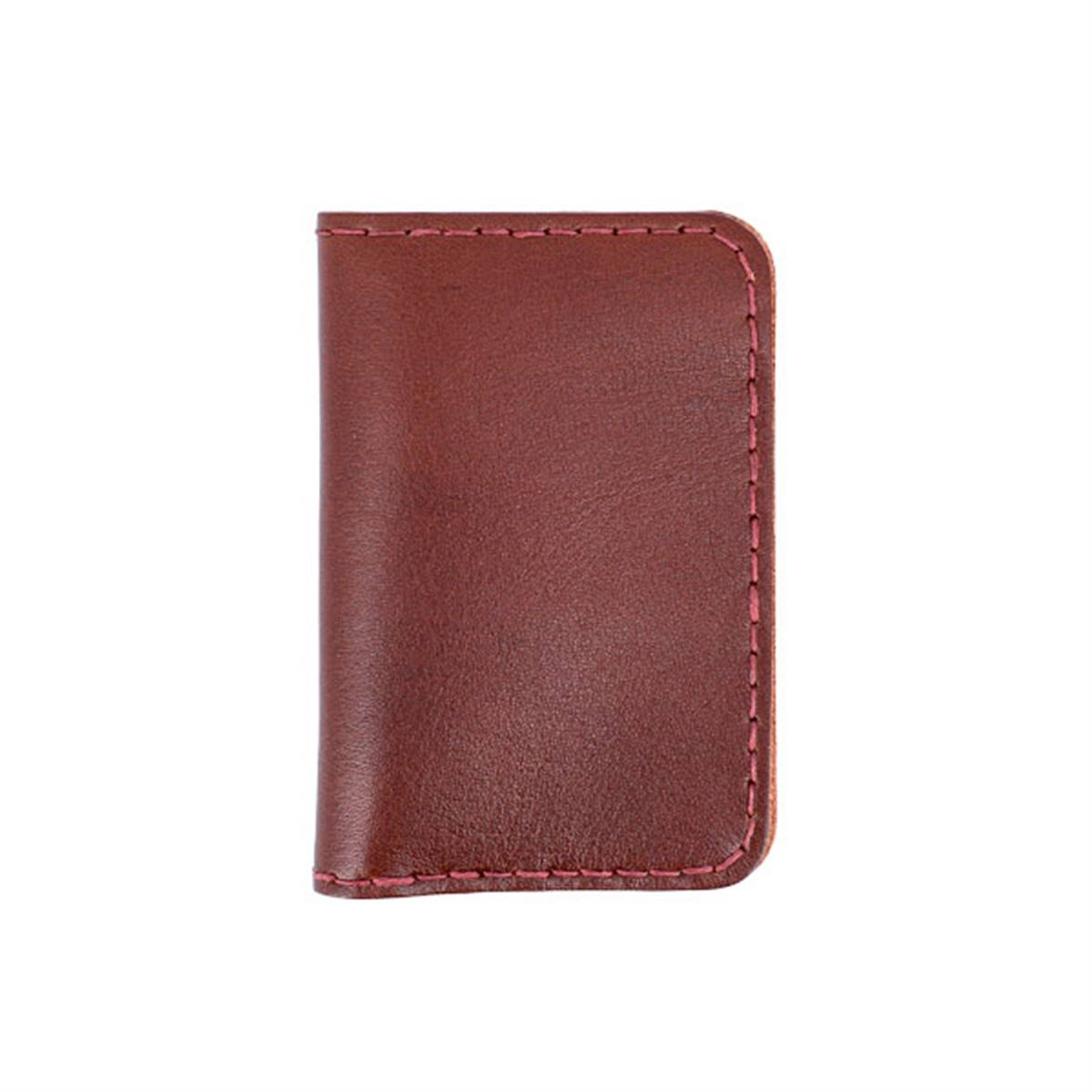 Kitencuir porte cartes double marron acajou fil bordeaux for Porte 15 bordeaux