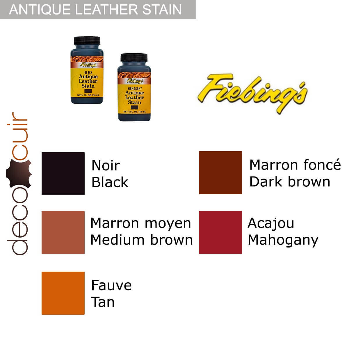 Patine après teinture - Antique Leather Stain Fiebing's - FAUVE / TAN