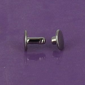 Lot de 20 rivets moyen DOUBLE CALOTTE en laiton (T4) finition nickelé