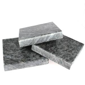 Lot de 3 marbres en granite non veiné - 150x150x30 mm