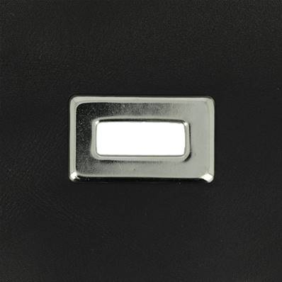 Lot de 25 œillets à griffe rectangle - NICKELÉ - 22x9 mm
