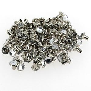 Lot de 100 rivets strass moyen - CRISTAL