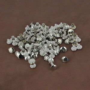 Lot de 50 Vis CHICAGO en laiton NICKELE - 9 mm de diamètre