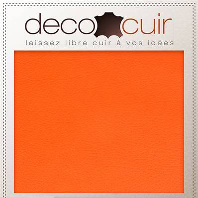 Morceau de cuir SWEET 2 - ORANGE - 15x20 cm - ep 1 mm