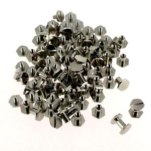 Lot de 50 vis CHICAGO hexagonales - NICKELE - 8 mm de diamètre