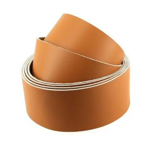 Sangle CARAMEL - veau lisse type BOX - largeur = 38 mm
