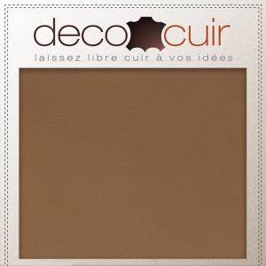 Morceau de cuir SWEET - MARRON NOISETTE - 20x30 cm - ep 1,5 mm