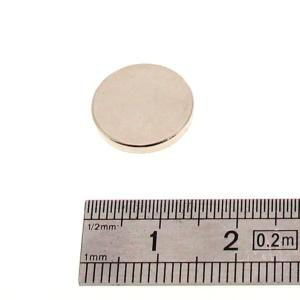 Aimant rond - 14 x 2 mm